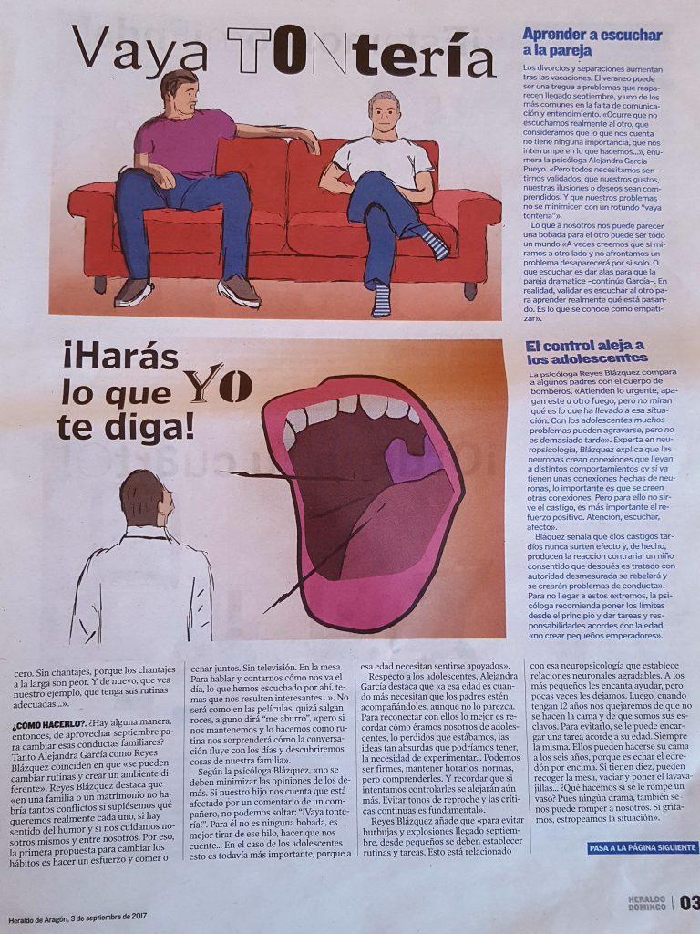 entrevista heraldo de aragón alejandra garcia