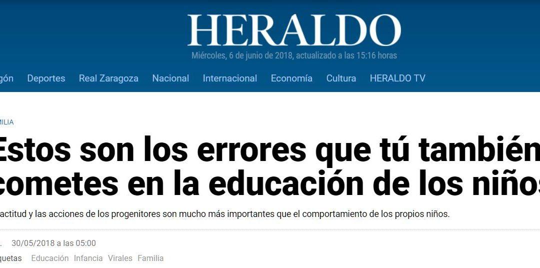 Errores que se cometen en la educación de los niños – Alejandra García