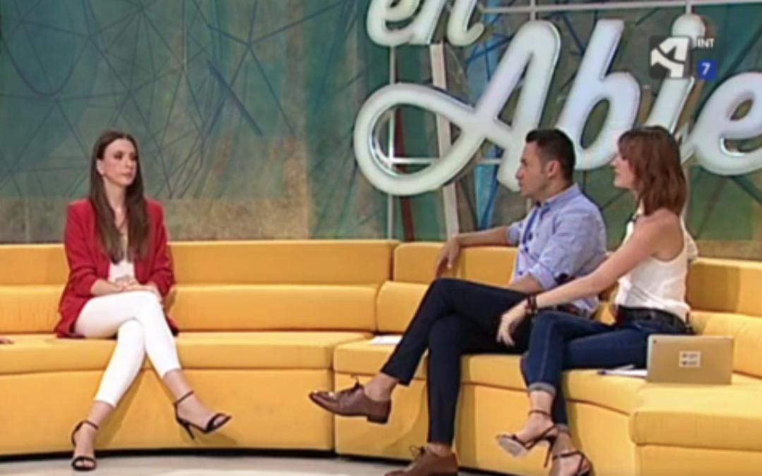 Entrevista en Aragón tv exposición de los niños en redes sociales