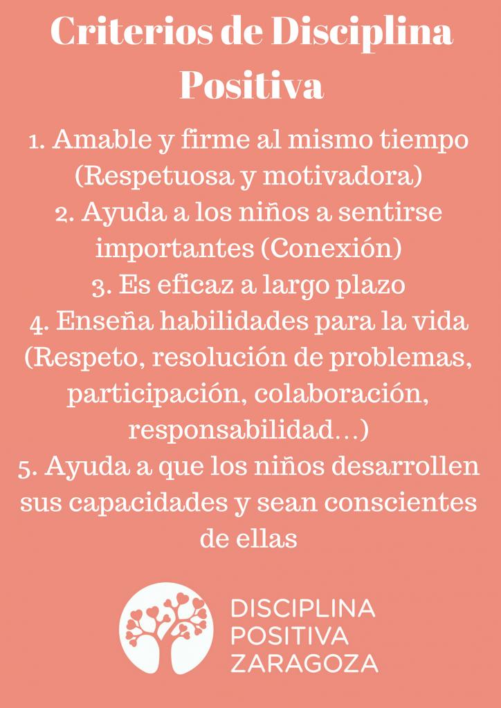 Criterios de Disciplina Positiva Zaragoza