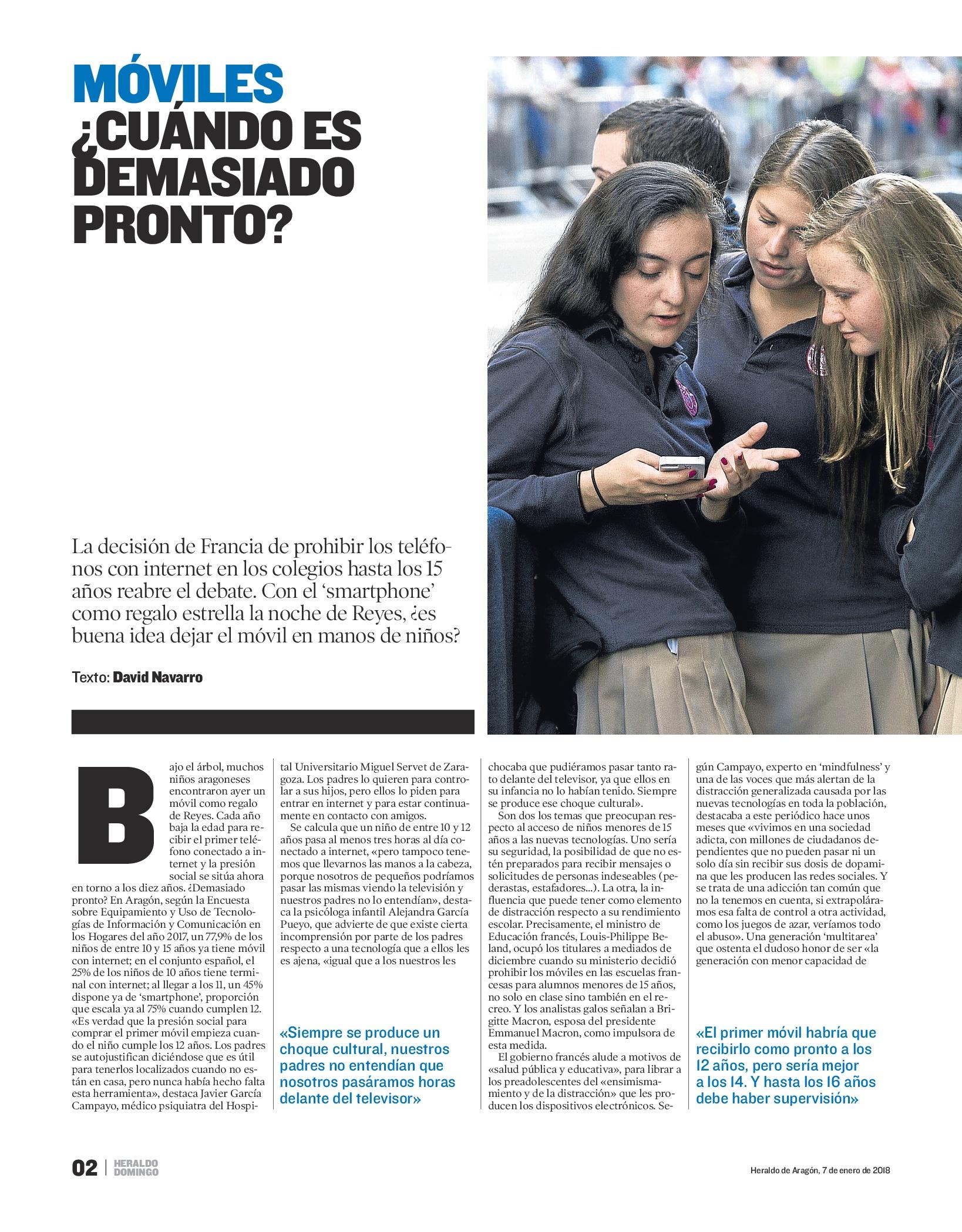Alejandra Garcia heraldo de aragón entrevista móviles