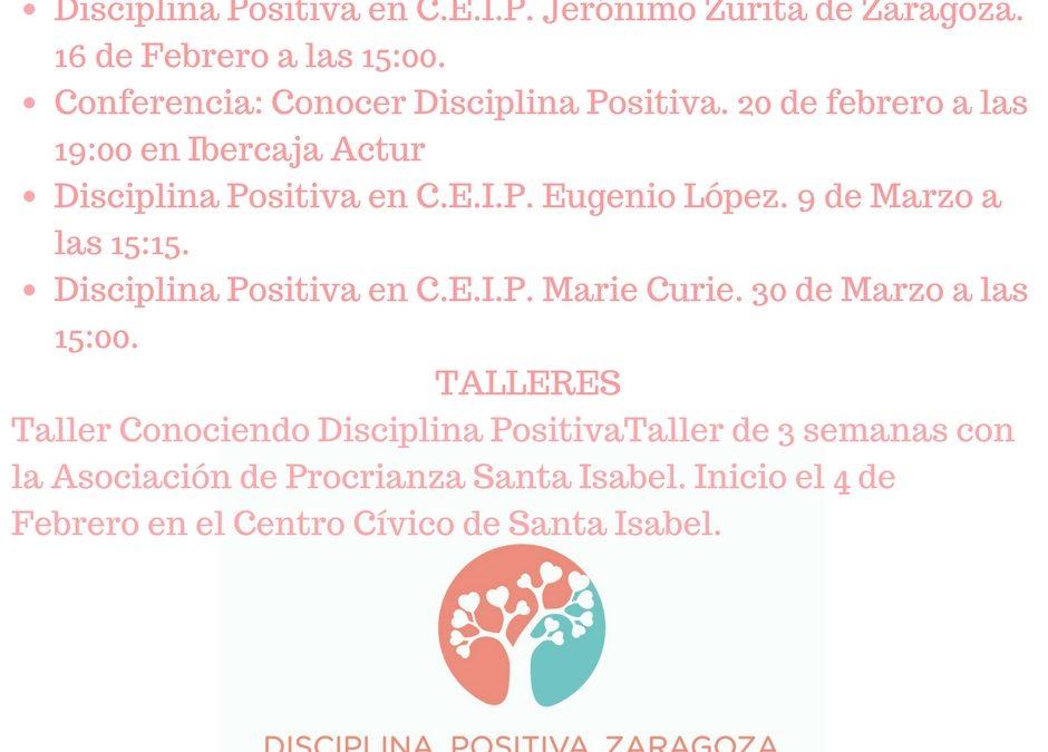 Próximos eventos de Disciplina Positiva Zaragoza Educando para la Vida